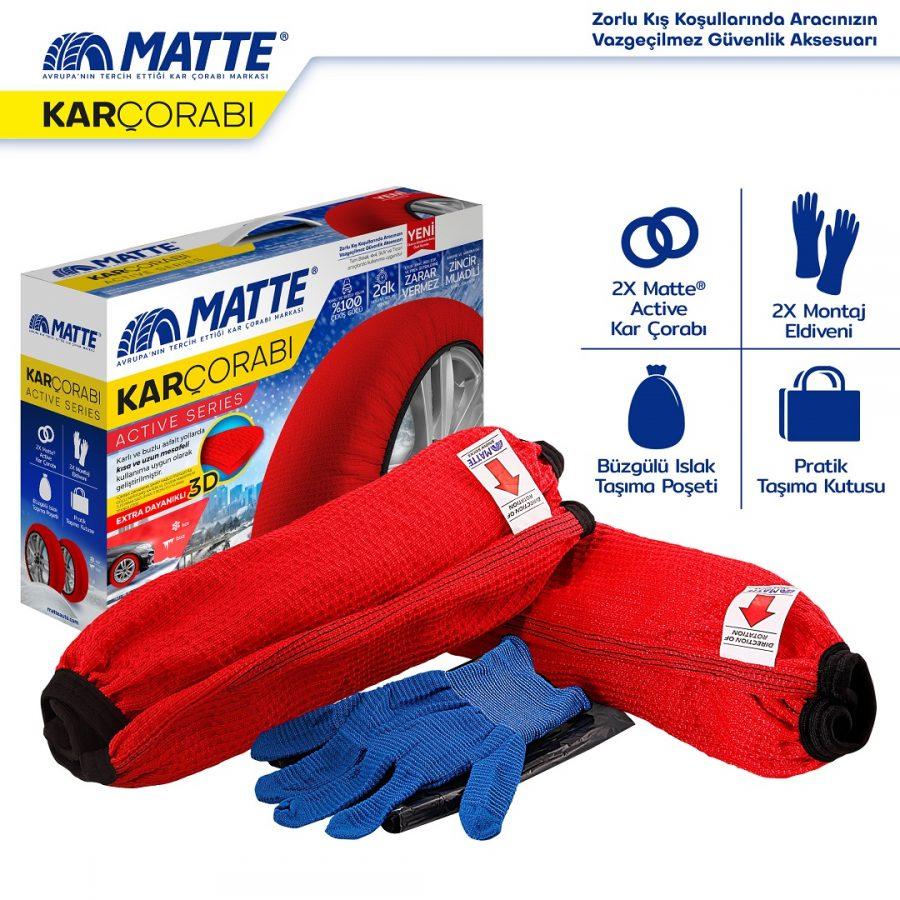 Matte Kar Çorabı Active Series
