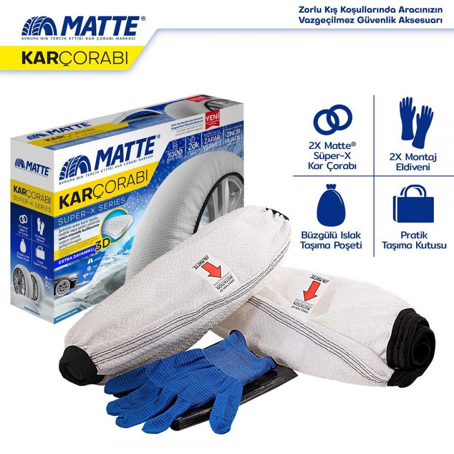 Matte Kar Çorabı Super-X Series